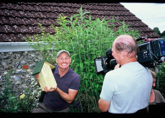 Mike Dilger with my insect box